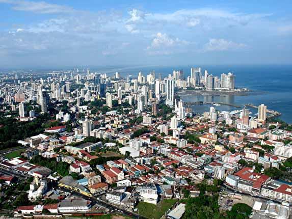Panama City aus der Vogelperspektive