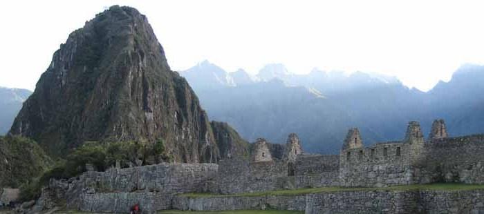 Blick auf die Inkastätte Machu Picchu in Cusco in Peru
