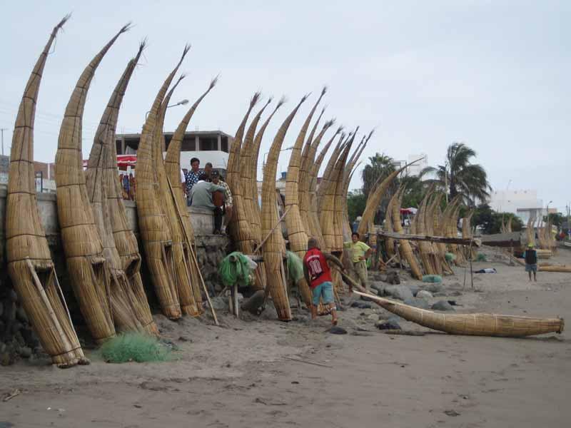 Abenteuer Peru mit Taroa Schildbooten in Huanchaco