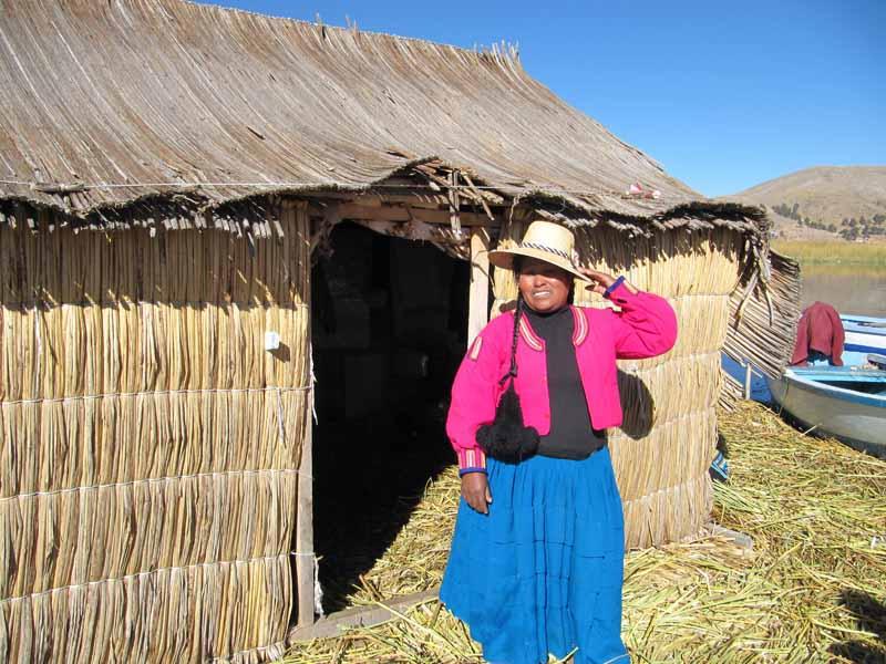 Schilfinseln der Uros Titicacasee