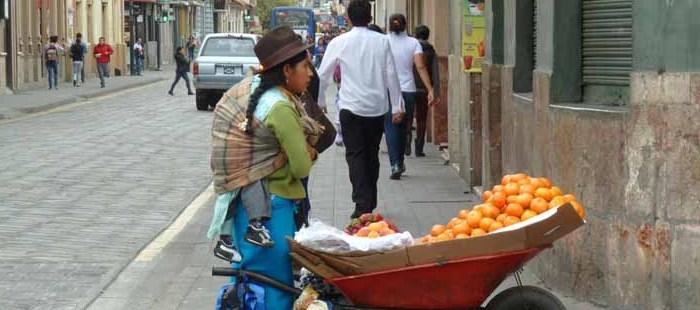 Cuenca Straßenverkauf
