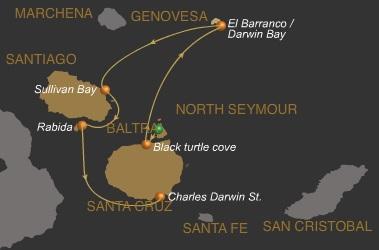 4 Tage Galapagos Kreuzfahrt mit dem Expeditionsschiff Galaven
