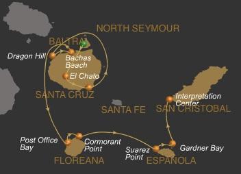 5 Tage Galapagos Kreuzfahrt mit dem Expeditionsschiff Galaven