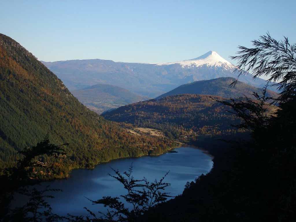 Seenregion Chile mit schönen Landschaften
