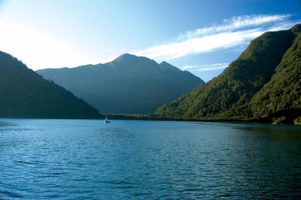 Bootsfahrt in der Region der nördlichen Carretera Austral