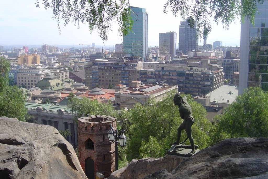 Santiago de Chile vom Santa Lucia Hügel