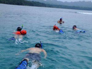 Schnorcheln in der Karibik in Costa Rica