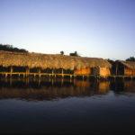 Typische Steelenhäuser im Orinoco Delta
