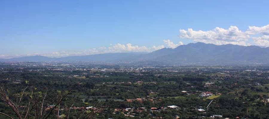 Blick vom Vulkan Poás beim Austauschjahr in Costa Rica