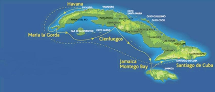 Route auf der Landkarte der Celestyal Cruises