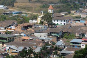 Blick auf San Agustin während der Kolumbien Erlebnisreise